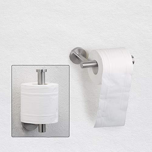 (Nolimas Brushed Nickel Toilet Paper Holder SUS304 Stainless Steel Half Open Round Wall Mounted Rustfree Bathroom Hotel 5 inch TP Holder Kitchen Washroom Tissue Roll Dispenser)