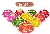FIZZYTECH Handmade Matki Candles | Diwali Decoration Lihts|tealight Diwali|Diya for Temple|Diwali Lights for Decoration of Home (Set of 10pc, Multicolor)