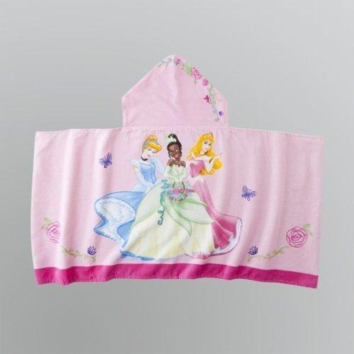 Disney Princess Hooded Towel: Features Cinderella, Tiana and Aurora by Disney Princess Pink Hooded Towel Disney Princesses Girls Kids Bath Towel