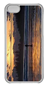 Customized iphone 5C PC Transparent Case - Beach Nature 21 Personalized Cover