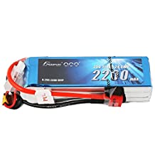 Gens ace LiPo Battery Pack 2200mAh 25C 3S 11.1V with Deans Plug for RC Car Boat Truck Heli Airplane