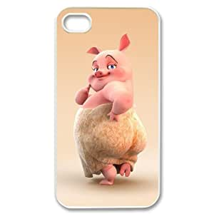 Personalized Cover Case with Hard Shell Protection for Iphone 4,4S case with Cute cartoon pig lxa#975937