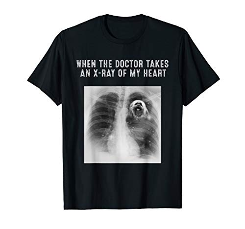 - X-Ray Of My Heart LHASA APSO Dog Gifts T-Shirt