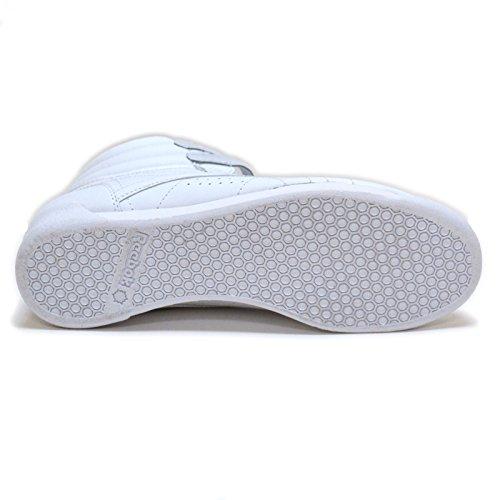 Reebok Damen Freestyle Hi Schnür Sneaker Weiß / Blau Trim