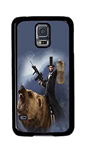 Rugged Samsung Galaxy S5 Case, Lincoln The Emancipator Custom Design Hard PC Plastic Case Cover for Samsung Galaxy S5 Black