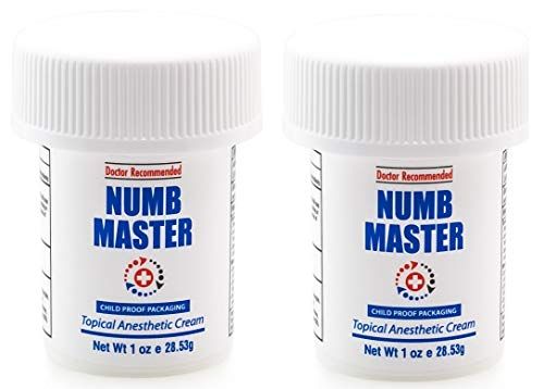 ((2-Pack) Numb Master Topical Anesthetic Liposomal Lidocaine Cream, Made in USA, Non-oily (1 Oz))