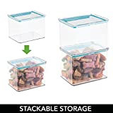 mDesign Airtight Stackable Plastic Kitchen
