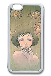 Anime Gril 05c Slim Soft Cover Case For iPhone 5c Cover PC White Cases