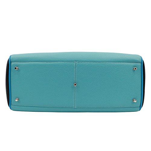 S Mac à main vachette Azur Douglas Multicolore Pyla Vesuvio Sac Bleu qYRFw