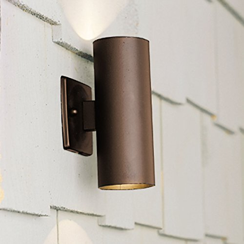 Kichler Lighting 15079AZT Up/Down Accent 12-Volt Deck and Patio Light, Textured Architectural (Accent 12v Accent)