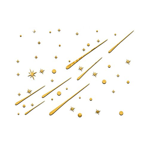 angel3292 Removable Meteor Showers Stars Mirror Wall Stickers DIY Art Decal Kids Room - Meteor Star