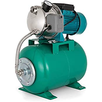 happybuy shallow well jet pump and tank 1 hp 750w shallow well pump with  pressure tank 740gph stainless steel jet pump with tank 1