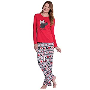 Mickey Mouse and Minnie Mouse Matching Family Pajamas, Red, Men X-Large