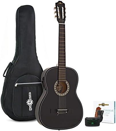 Paquete de Guitarra Clasica Electroacustica de Gear4music Black