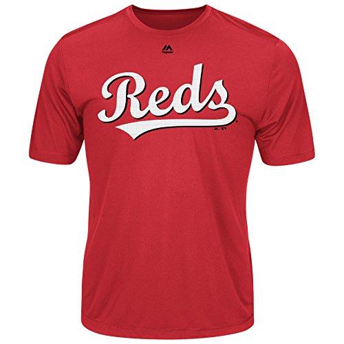 - Majestic Men's Cool Base MLB Evolution Shirt Cincinnati Reds Large
