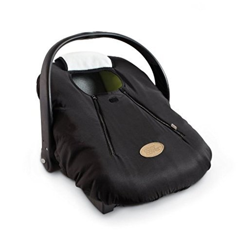 Cozy Cover Infant Car Seat Cover - The Industry Leading Infant Carrier Cover Trusted by Over 5.5 Million Moms Worldwide for Keeping Your Baby Cozy & Warm (Black)