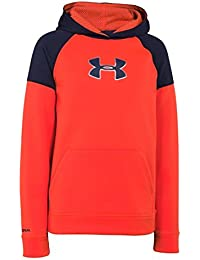 Boys Armour Fleece Storm Jacquard Big Logo Hoody