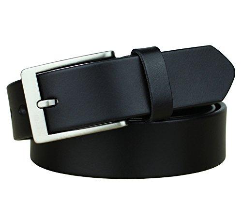 Bullko Men's Dress Belt Casual Genuine Leather 1 1/4