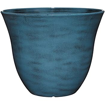 "Honeysuckle Planter, Patio Pot, 15"" Blue Jean"