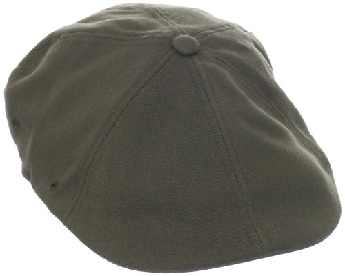 Loden Green Wool - Kangol Men's Wool Flexfit 504 cap, Loden, Small/Medium