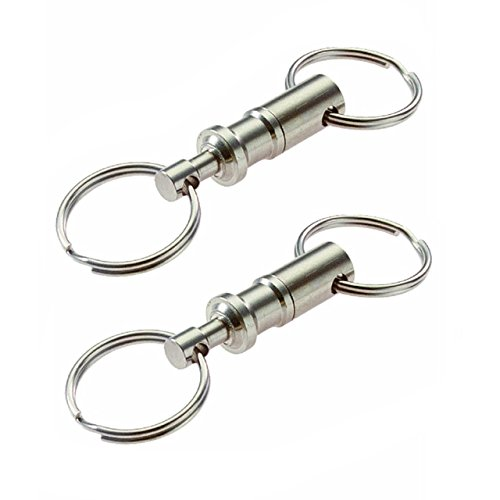 Generic Bluecell Pack of 2 Heavy Duty Dual Key Ring Pull Apa