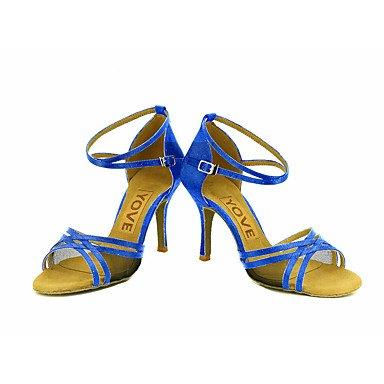 Latino Rojo Morado Amarillo Zapatos Personalizables Personalizado Azul baile Tacón Blanco Salsa Purple Rosa de Negro xYwqzC0w