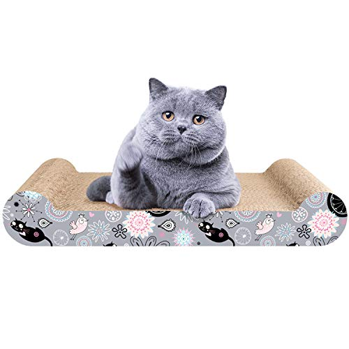 Aibuddy 猫用爪とぎ 強化ダンボール 高密度 耐久 小型 ベッド 子猫 運動不足 ストレス解消