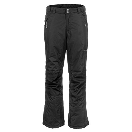 Lucky Bums Youth Snow Ski Pants with Reinforced Knees and Seat, Black, Large
