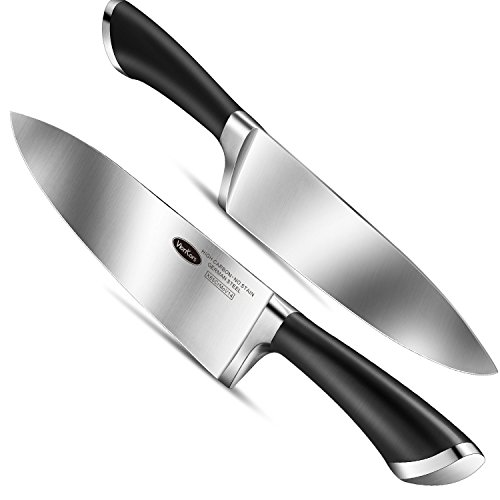 Kitchen Knife 8 inches Chef Knife - VIANKORS pro German stainless steel sharp knives, Highly Recommended,Razor Sharp, Ergonomic handle, For home & restaurant by Viankors (Image #1)'