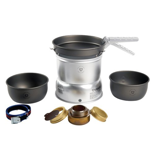 Trangia - 27-7 Ultralight Hard Anodized Camping Cookset | Includes: Alcohol Stove, 2 HA Pots, HA Frypan, Upper & Lower Windshield, Pot Gripper, ()