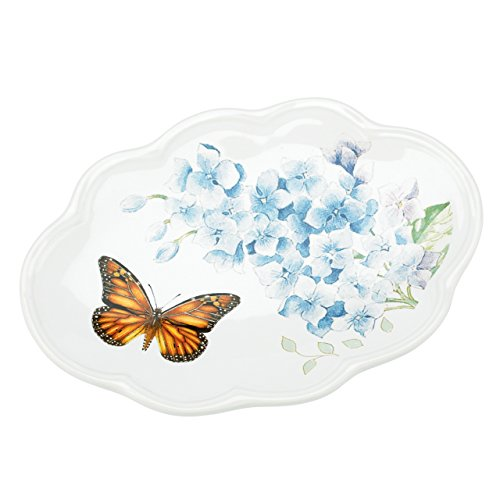 - Lenox Butterfly Meadow Floral Garden Soap Dish, Blue