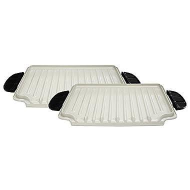 George Foreman GFP84PX Evolve Grill 84-Square Inch Ceramic Grill Plates, Ceramic