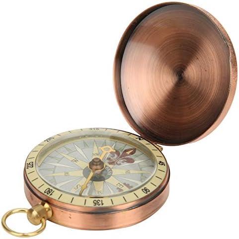 Biuzi Kompas 1Pc Draagbare Vintage Retro Metaal Koper Flip Cover Pocket Horloge Kompas voor Camping Wandelen Boating