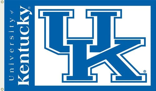 NCAA Kentucky Wildcats 3-by-5 Foot Flag with Grommets