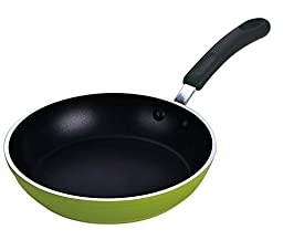 Cook N Home 8-Inch Frying Pan/Saute Pan with Non-Stick Coating Induction Compatible Bottom, Large, Green