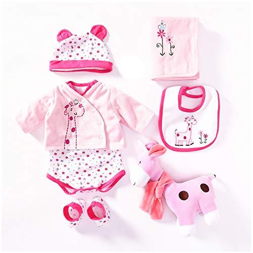 NPKDOLLS 다시 태어난 아기 인형이 소녀는 옷 55CM20-23 인치 다시 태어난 인형 옷은 옷 7 조각 설정
