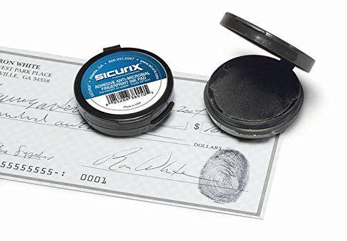Baumgartens Inkless Fingerprint Pad with Adhesive Black (Pack of 12) (38010)