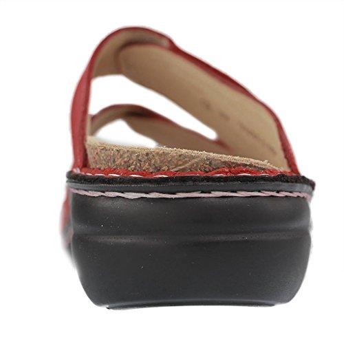 539403 pour Mules Comfort Femme 02571 Finn Rouge qw1EZP