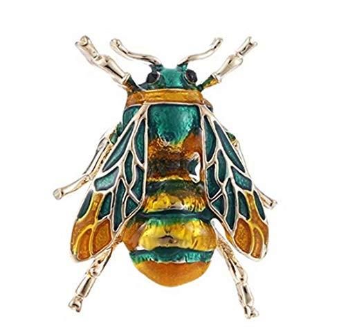 LOSOUL Bee Brooch Crystal Rhinestone Enamel Multi Colored Fashion Jewelry Brooch Pin ()