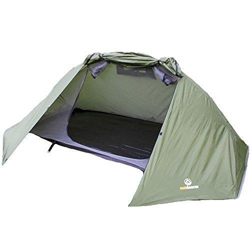 outdoorer Zelt Trek It Easy, grün, leicht, geringes Packmaß, das Trekkingzelt für 1-2 Personen