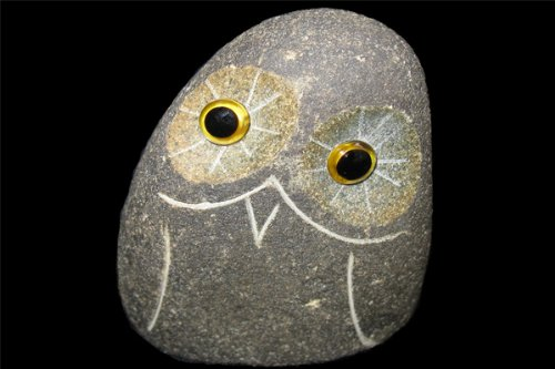 - Small River Rock Boulder Stone Owl Irregular Shaped 2inch Tall 2