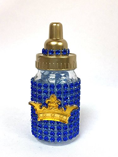 Amazon.com : 10 Baby Shower Favor Prince Baby Bottle Decoration :  Everything Else