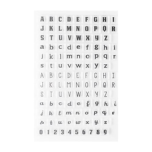 (1 Pc Clear Stamp Seal Transparent Silicone Alphabet Numbers for DIY Scrapbook Accounting Note Diary(Y38-Capital and Lower-case Letter))