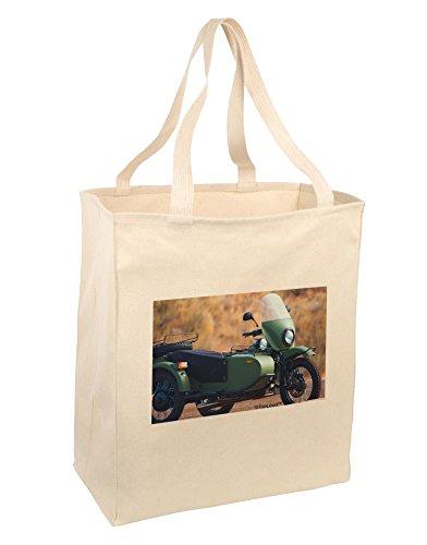 TooLoud Sidecar Motorcycle Photo Large Grocery Tote Bag-N...