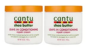 Cantu Shea Butter Leave-In Conditioning Repair Cream, 16 Ounce (Pack of 2)