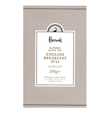 Harrods London. No. 14 English Breakfast, Loose Leaf Tea 200g (1 Pack) NEW RANGE Seller Product Id HEB2 - USA Stock