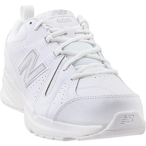 New Balance Men's 608v5 Casual Comfort Cross Trainer, White, 9.5 D US