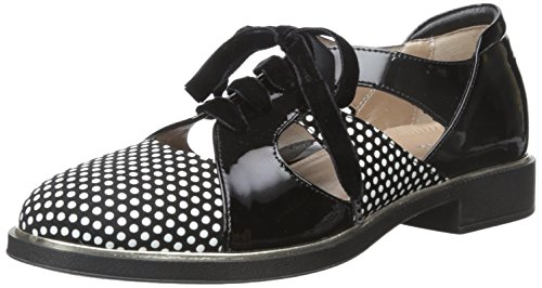 Beautifeel Women's Broadway Flat, 3D Polka Dots Suede Combination, 37 EU/6 M US