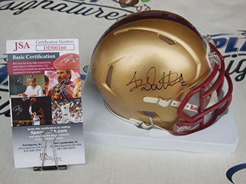 A.J. AJ Dillon signed Boston College BC Eagles speed mini helmet JSA COA