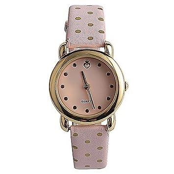 Bellos Relojes, moda mujer reloj de pulsera, reloj/de cuarzo japonés banda de PU elegante Casual rosa, Blushing Pink: Amazon.es: Deportes y aire libre